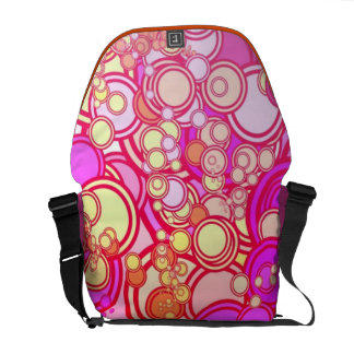 Retro Circles Courier Bags