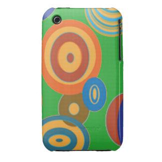 Retro Circles iPhone 3 Case-Mate Cases