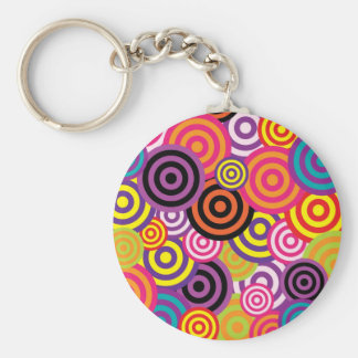 Retro Circles Key Chains