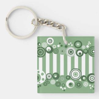 Retro circles acrylic key chain