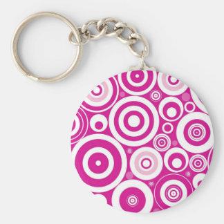 Retro Circles Keychain