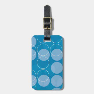 Retro circles luggage tag