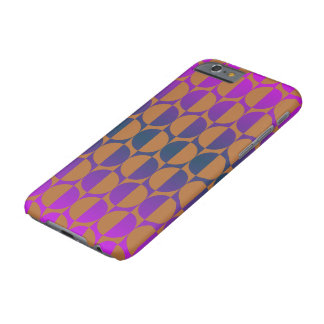 Retro circles magenta, purple, blue, brown barely there iPhone 6 case