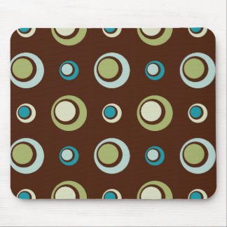 Retro Circles Mouse Mat