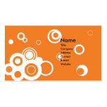 Retro Circles (Orange) Business Card