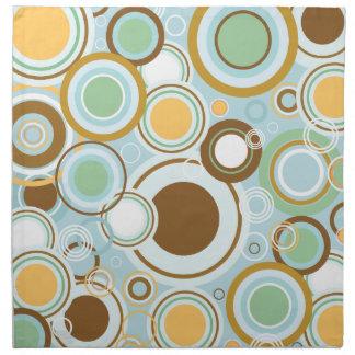 Retro Circles Pattern Napkin