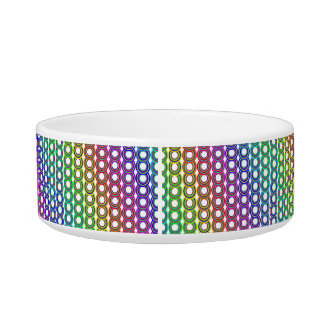 Retro circles pretty pet food bowl