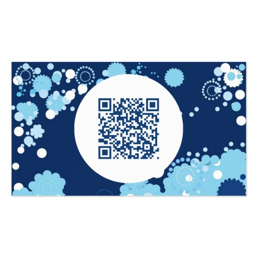 retro circles QR code Pack Of Standard Business Cards