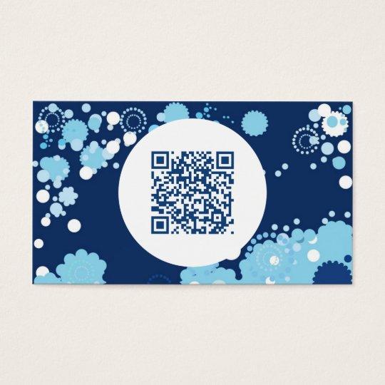 retro circles QR code Business Card