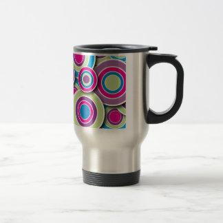 Retro Circles Stainless Steel Travel Mug