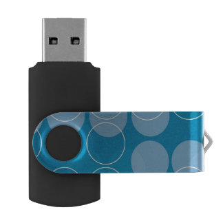 Retro circles swivel USB 2.0 flash drive
