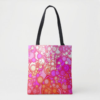 Retro Circles Tote Bag