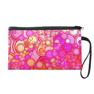 Retro Circles Wristlet Purses