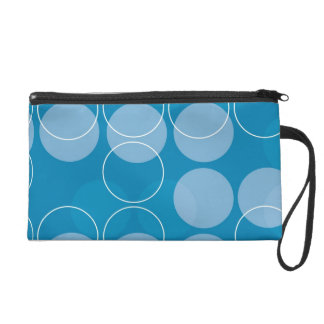 Retro circles wristlet purses
