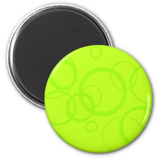 retro citrus circles magnet