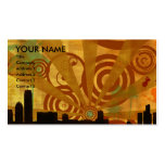 retro cityscape Double-Sided standard business cards (Pack of 100)