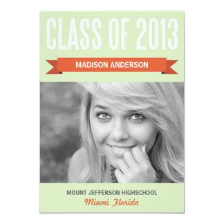 RETRO CLASS OF 2013 | GRADUATION INVITATION