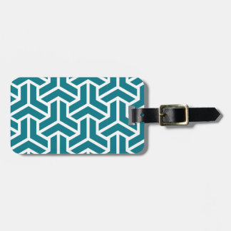 Retro classic pattern luggage tag