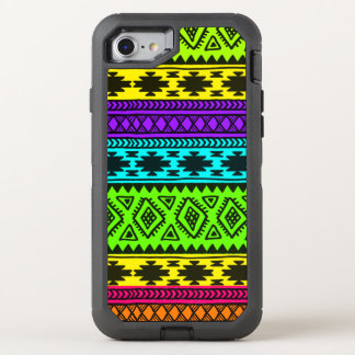 retro, classic, pattern, teal, vintage, OtterBox defender iPhone 8/7 case