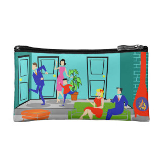 Retro Classic Television Cosmetic Bag