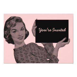 """Retro Clipboard 5"""" X 7"""" Invitation Card"""
