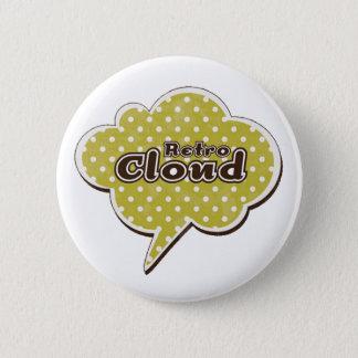 Retro Cloud 6 Cm Round Badge