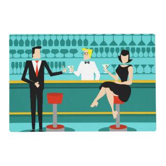 Retro Cocktail Lounge Laminated Placemat