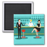 Retro Cocktail Lounge Magnet