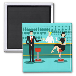 Retro Cocktail Lounge Magnet