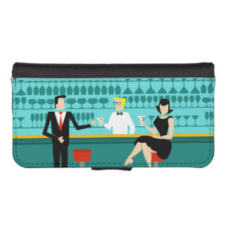 Retro Cocktail Lounge Smartphone Wallet Case