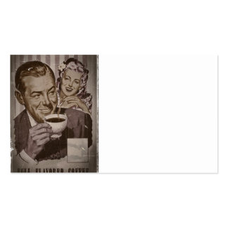Retro Coffee and Flirting Pack Of Standard Business Cards
