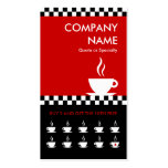 retro coffee checkers punchcard pack of standard business cards