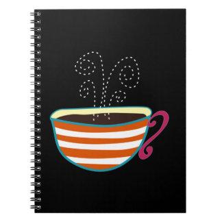 Retro Coffee Cup Tea Custom Notebooks