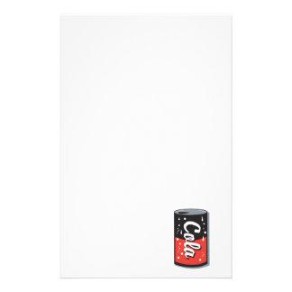 retro cola can design stationery design