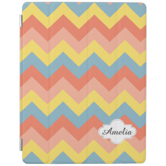 Retro color chevron iPad cover