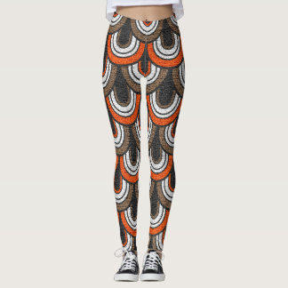 Retro Color Fifties Pattern #2 Leggings