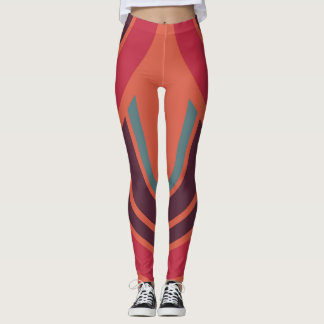 Retro Color Fifties Pattern #3 Leggings