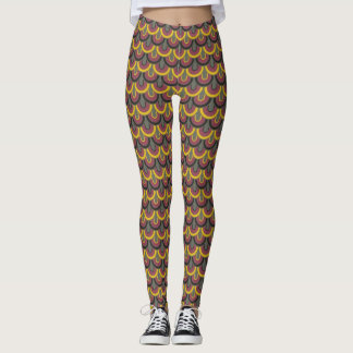 Retro Color Fifties Pattern #4 Leggings