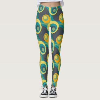 Retro Color Fifties Pattern Leggings
