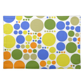 Retro Color Polka Dots   Abstract Art Placemat