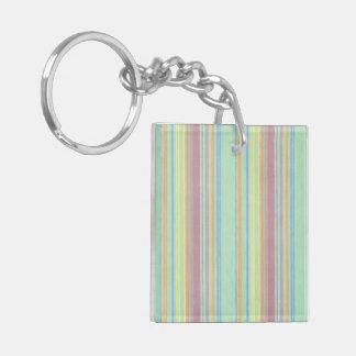 Retro Color Stripes Key Chains