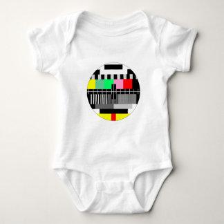 Retro color tv test screen baby shirt