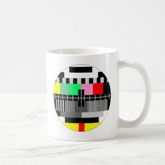 Retro color tv test screen coffee mug