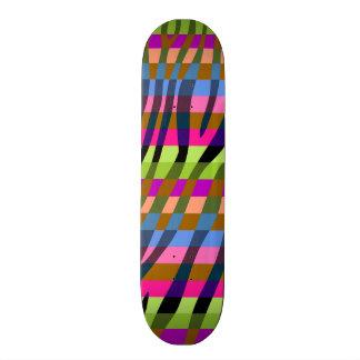 Retro Color Zebra Stripe Pattern 13 Skateboards