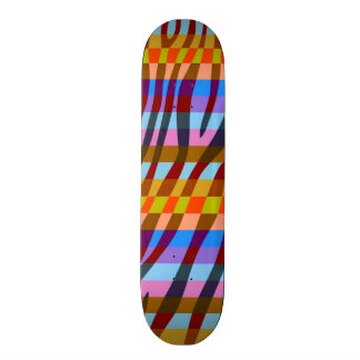 Retro Color Zebra Stripe Pattern 3 Skateboards