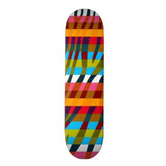 Retro Color Zebra Stripe Pattern 5 Skate Board