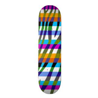 Retro Color Zebra Stripe Pattern 9 Skate Decks