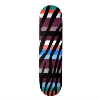 Retro Color Zebra Stripe Pattern Skate Boards