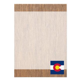 Retro Colorado Flag 13 Cm X 18 Cm Invitation Card