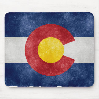 Retro Colorado Flag Mouse Pad